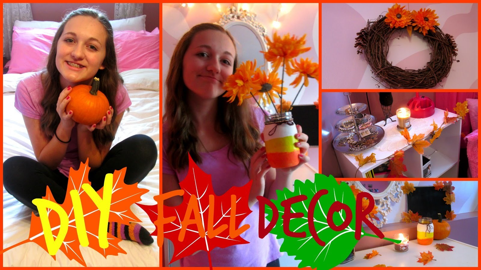 DIY Fall Room Decor!! inspired by tumblr!