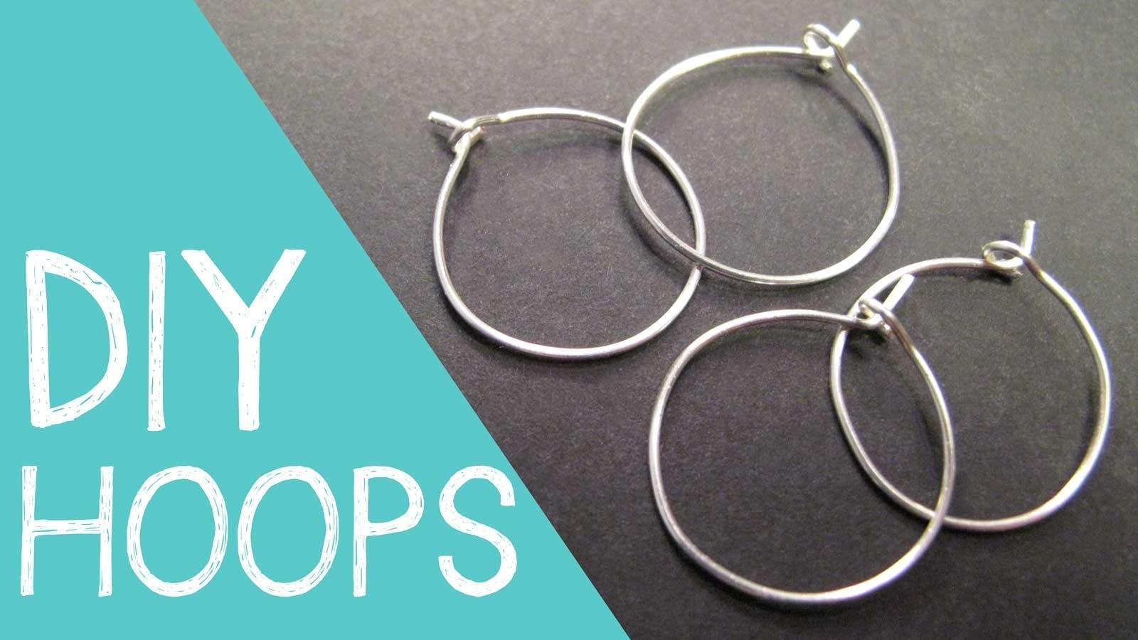 DIY Hoop Earrings. Wine Charm Rings Wire Jewelry Tutorial