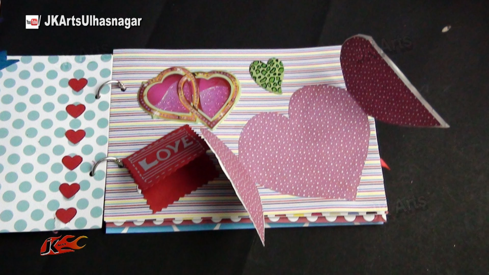 DIY How to make a scrapbook | JK Arts 861
