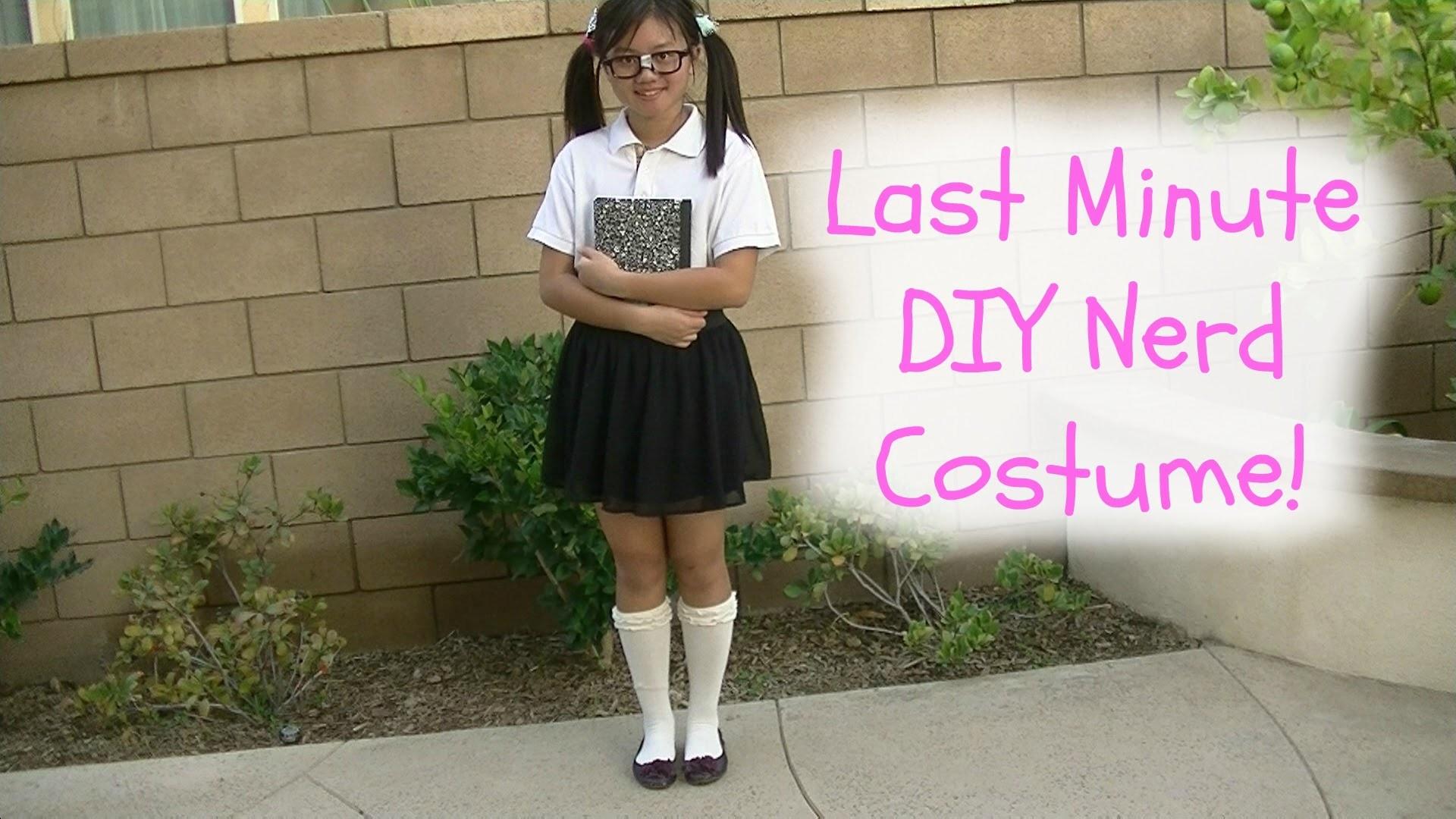 DIY LAST MINUTE NERD COSTUME! -DIYwithPri