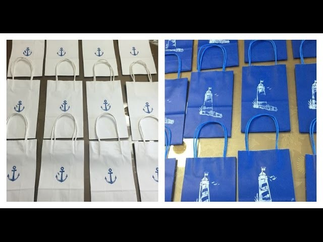 DIY NAUTICAL THEMED CANDY BAGS