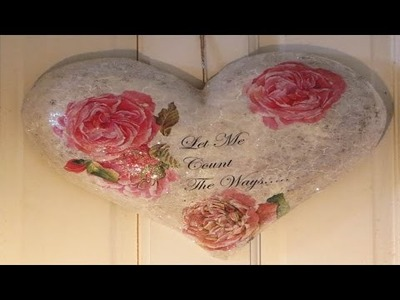 DIY Valentine Craft Heart Decoupage & Transfer