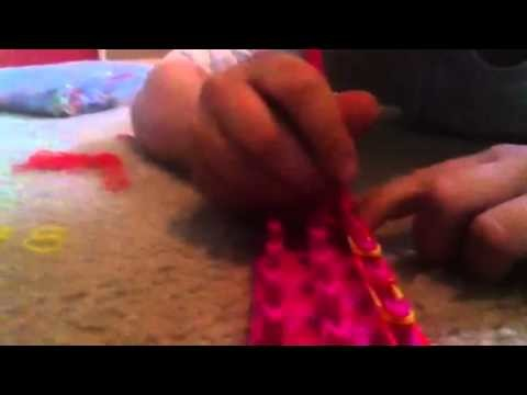 Double bracelet rubber band tutorial