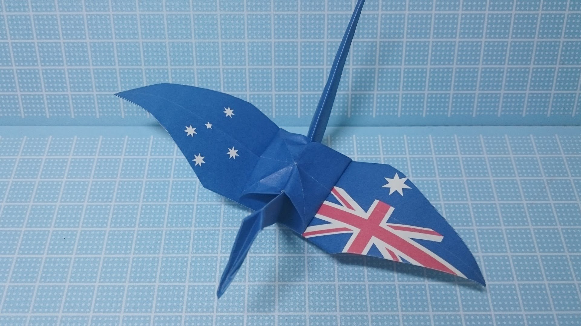 Easy Origami Crane! Australia Flag