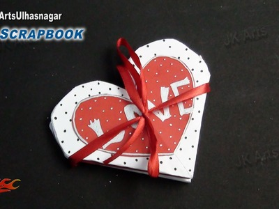 Easy Scrapbook Greeting card Tutorial | Valentine's day | JK Arts 862