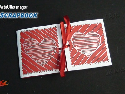 Easy Scrapbook Greeting card Tutorial | Valentine's day | JK Arts 863