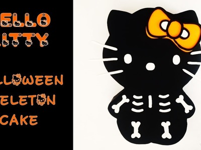 Halloween Cake Kitty Skeleton | How to make from Creative Ckaes by Sharon