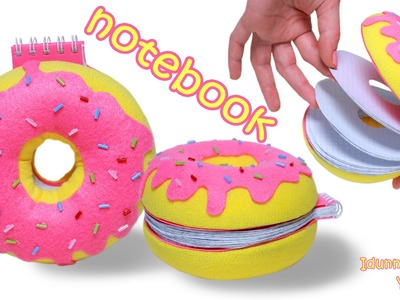 How To Make a Donut Notebook – DIY Doughnut Notepad Tutorial