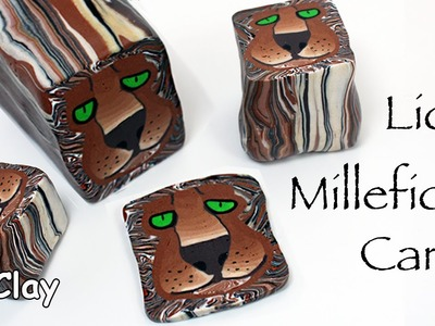 How to make a millefiori cane Lion - Polymer clay tutorial