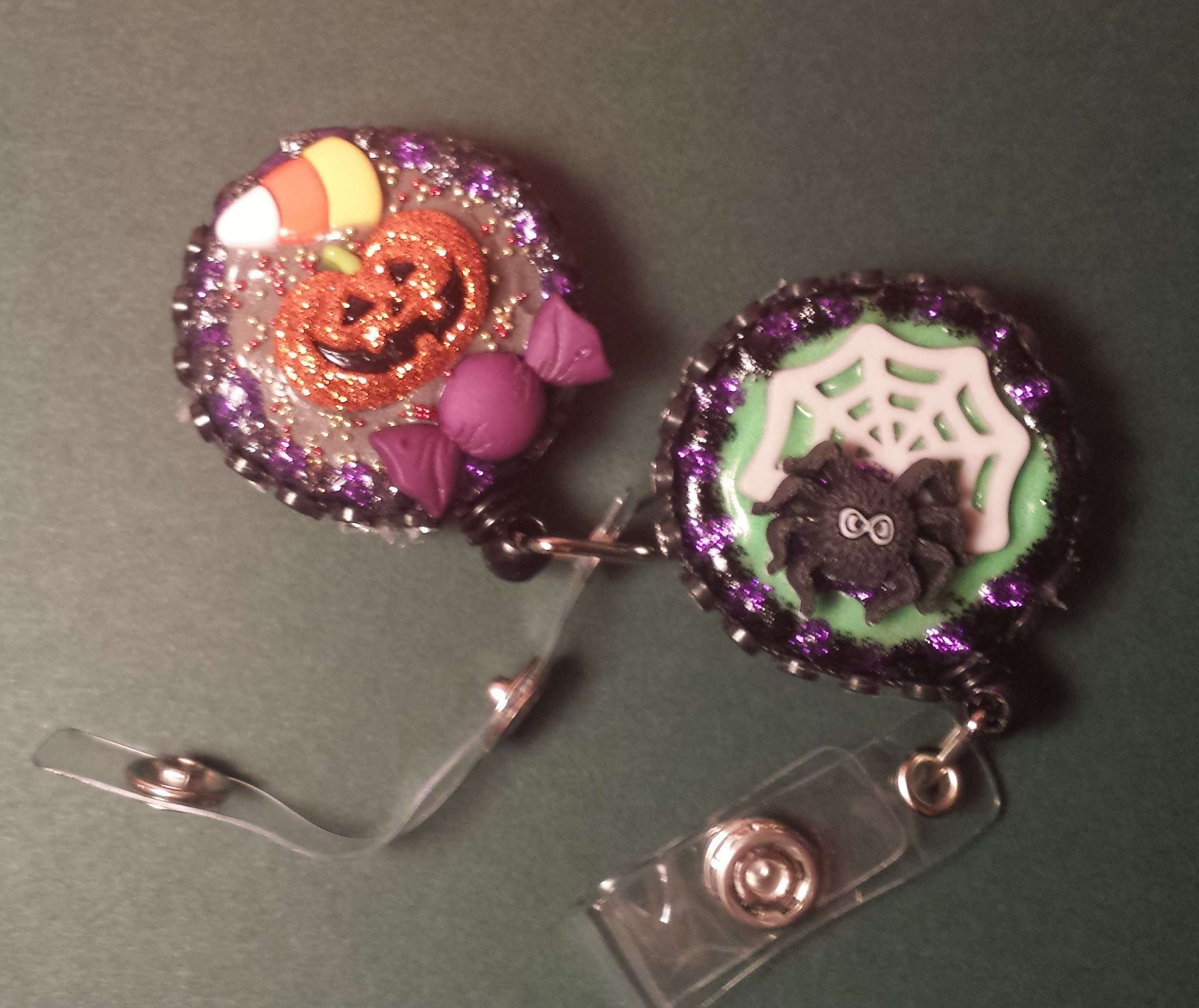 ID Badge Holder Tutorial #6: Halloween Pumpkin