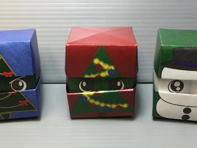 Origami Changing Faces Christmas Cube