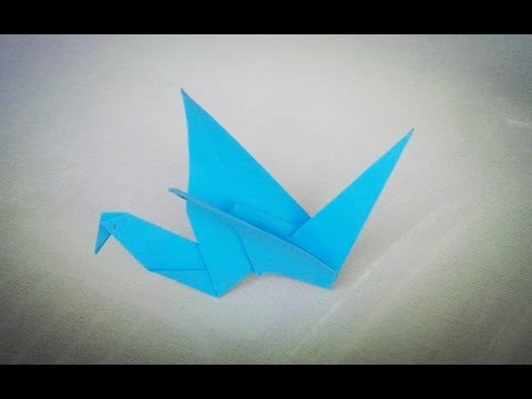 Origami flapping bird - craft tutorial