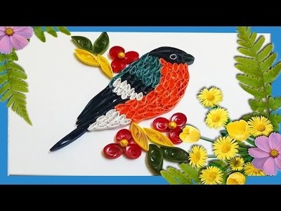 Paper quilling bird craft-ideas-modern-art-home-decorations