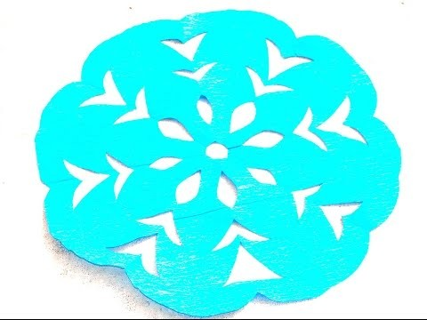 Paper snowflake-Easy paper craft for kids and beginners