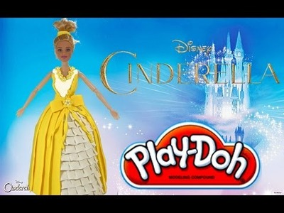 Play Doh craft. Magic dress up for Disney Princess Cinderella.HD