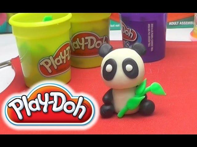 Play-Doh Cute Panda DIY