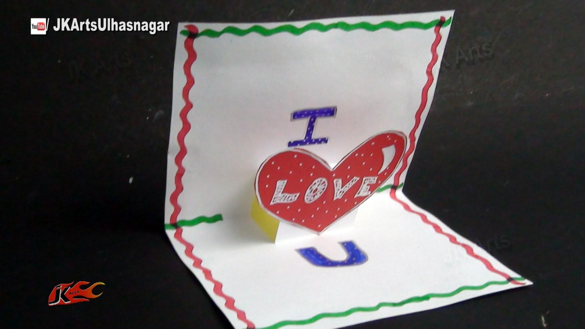 PopUp Scrapbook Greeting card Tutorial   Valentine's day   JK Arts 865