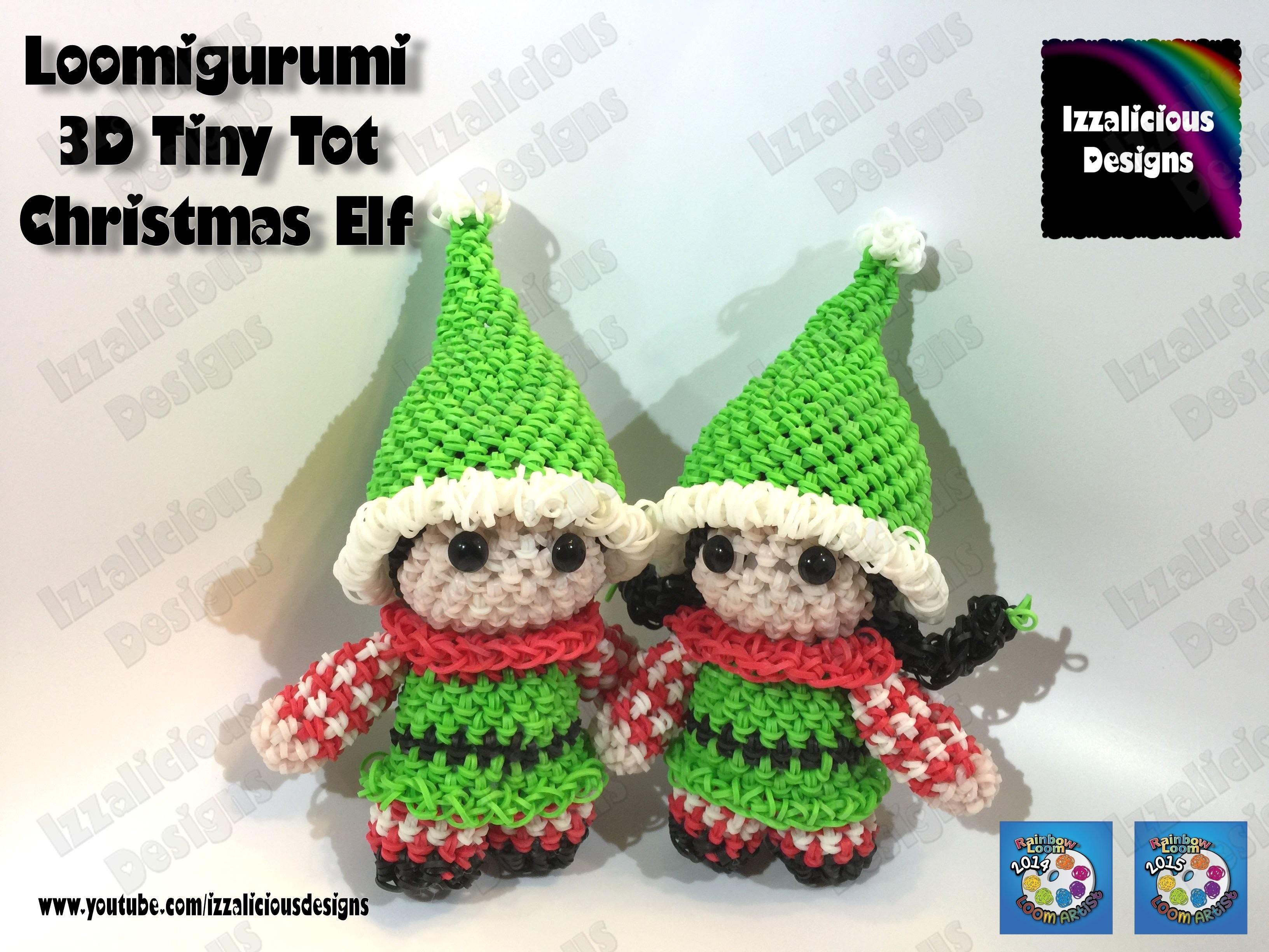 Rainbow Loom Elf | Rainbow Loom Loomigurumi Elf | Loomigurumi Elf Tiny Tot Christmas Figure