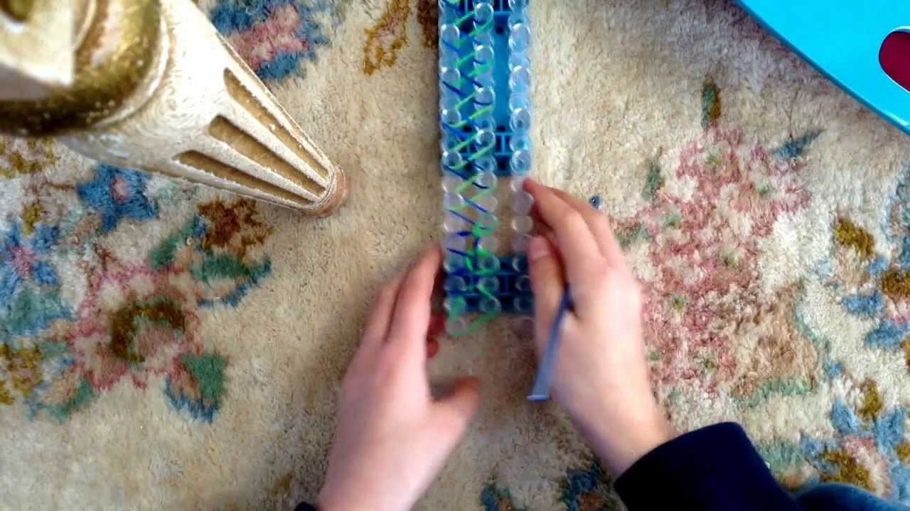 Rainbow loom single bracelet tutorial