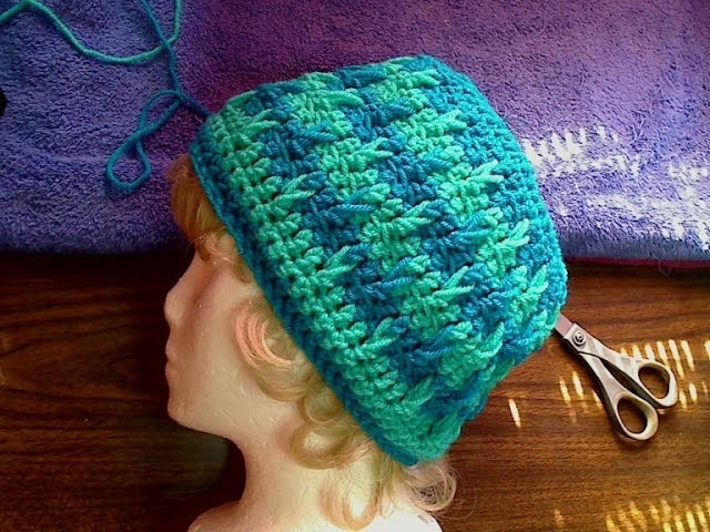 Split cable hat RH