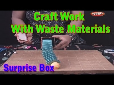 Surprise Box | Craft Work With Waste Materials | Learn Craft For Kids | Waste Material Craft Work