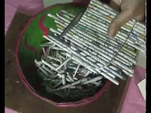 Waste Newspapers to make Jewelery or Bangle Box