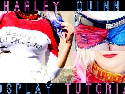 DIY: COSPLAY HARLEY QUINN - Blusa.Short.Colar