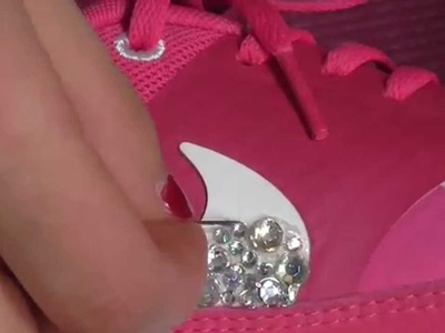 DIY shoe bedazzle