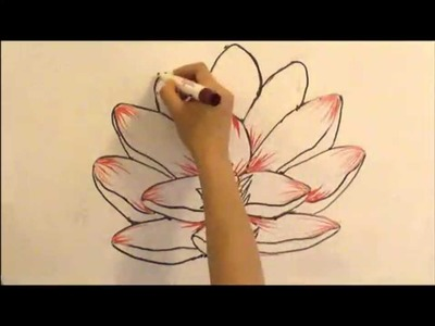 How to Draw a Lotus Flower: SIMPLE & EASY