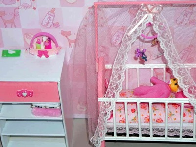 How to make a baby crib. cot (part 2) for doll (Monster High, Barbie, etc)