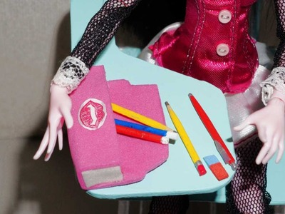 How to make a pencil case & lunch box for doll (Monster High, MLP, EAH, Barbie, etc)
