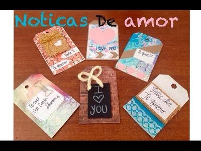 Notas de amor I DIY