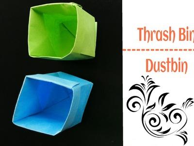 "Origami Paper ""Thrash Bin.Basket. Dustbin - A4 sheet !!"