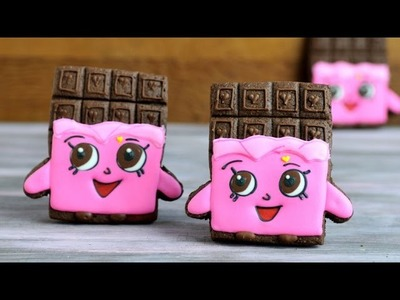 SHOPKINS CHEEKY CHOCOLATE BAR COOKIES, HANIELA'S