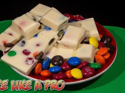White chocolate bar with M&Ms recipe