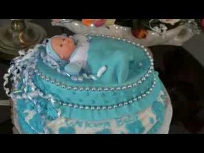 Baby shower cake -  www.skycake.ca