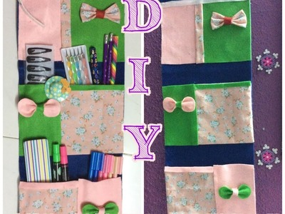 ✂️  ✂️ ✂️ DIY- No SEW Pocket Wall Hangings 4 Stationeries. Accessories. Letter holder