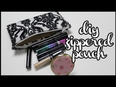 ❤︎ DIY: Zippered Pencil Pouch.Cosmetic Bag, ETC. || #Handmadeby㉿