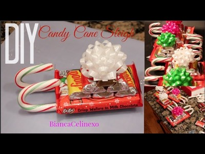 DIY Candy Cane Sleigh♡