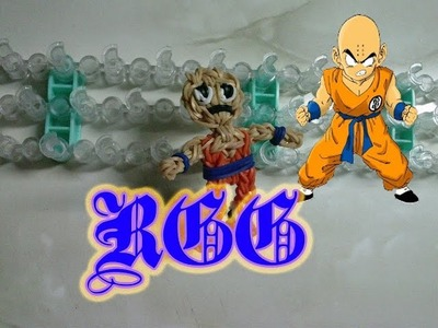 Como hacer a Krilin ((Dragon Ball)) con gomitas.(Rainbow Loom)