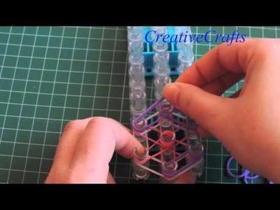 Como hacer una flor para lapicero con gomitas Rainbow Loom. Rainbow Loom Flower Pencil.