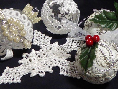 Lace Cross & Ornaments with Tresors de Luxe