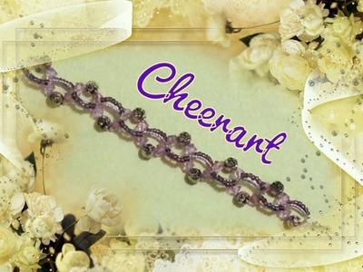 Bracelet : classical style beaded bracelet 7 (tutorial) 串珠手鏈教學7 : 古典風手鏈