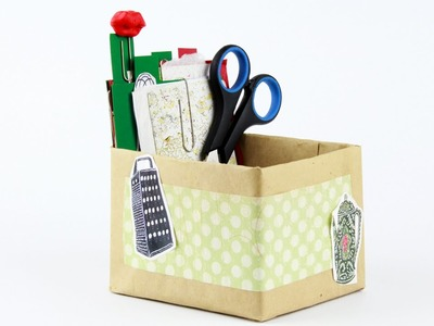 DIY Handmade Cardstock Box for Note Cards