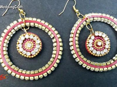 DIY Paper Quilling Diamond Earrings   How to make   JK Wedding Craft 076