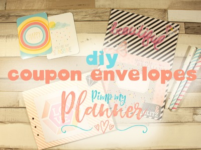 DIY Planner Envelope.Coupon Keeper with 1 2 3 Punch Board- Pimp my Planner ♥