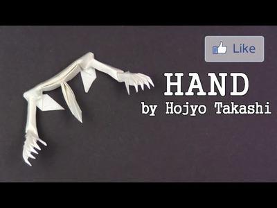 Halloween Origami SKELETON HAND by Hojyo Takashi - Yakomoga Origami tutorial