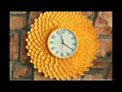 How to Make a Chrysanthemum  Clock (From Plastic Spoons!)