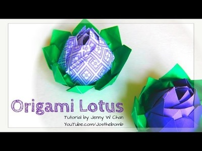 Mother's Day Crafts - How to Make an Origami Lotus Flower - Paper Flower Tutorial