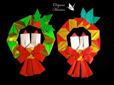 Origami Maniacs 151: Christmas Wreath 1.Guirnalda Navidenia 1
